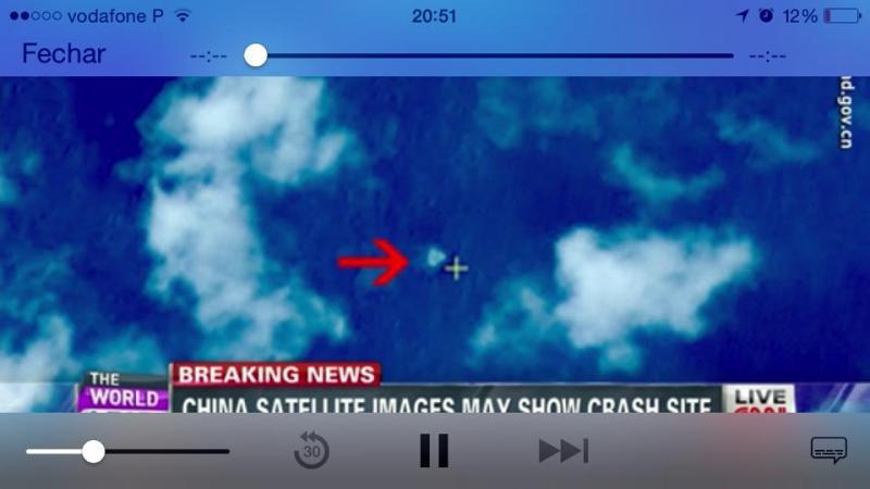 Satélite chinês deteta local suspeito onde pode ter caído o voo MH370 (foto CNN)