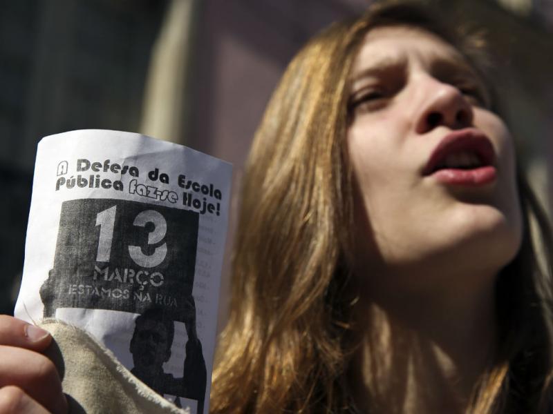 Manifestações de estudantes do ensino básico e secundário (LUSA)