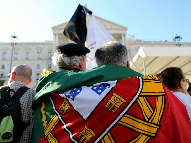 Marcha de militares em Lisboa [LUSA]