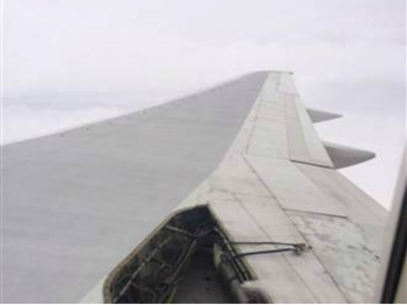 Painel soltou-se durante voo (reprodução de nbcnews)