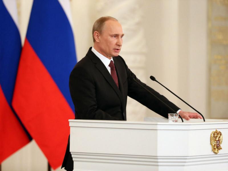 «A Crimeia é parte da Rússia», afirmou hoje Putin (Lusa/EPA/SERGEI ILNITSKY)