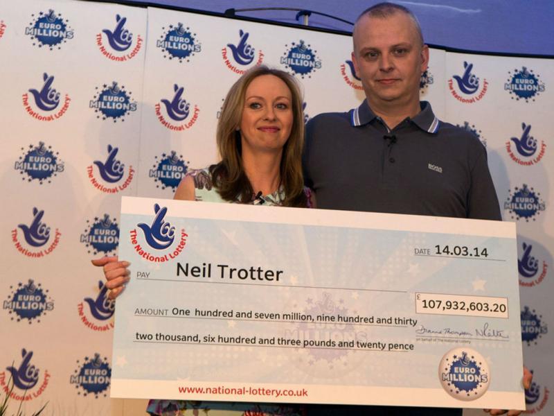 Neil Trotter, vencedor do Euromilhões