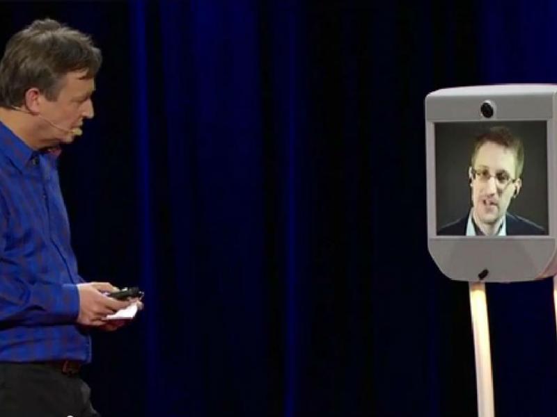 Snowden na conferência TED