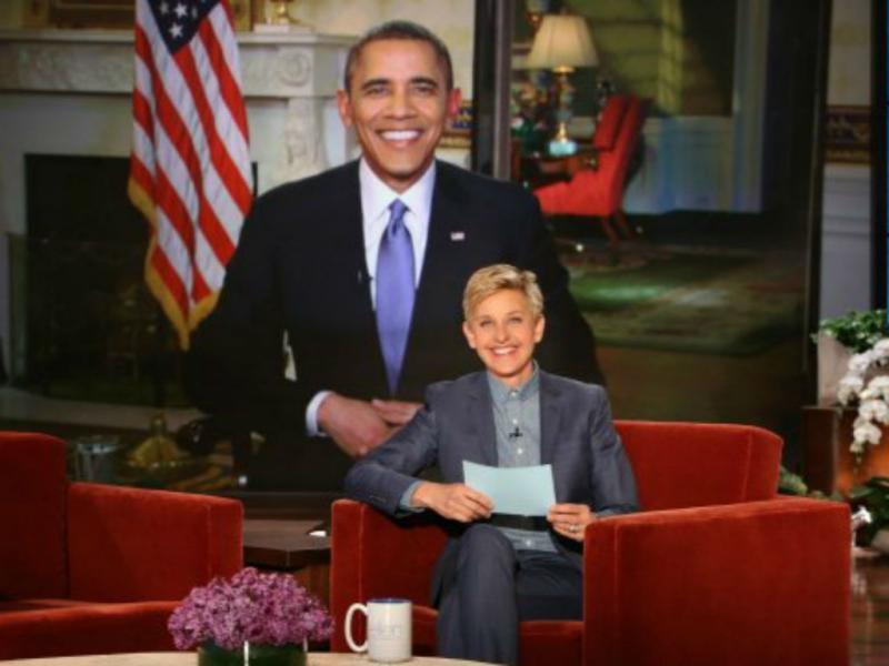 Barack Obama no programa de Ellen DeGeneres (Reprodução YouTube)