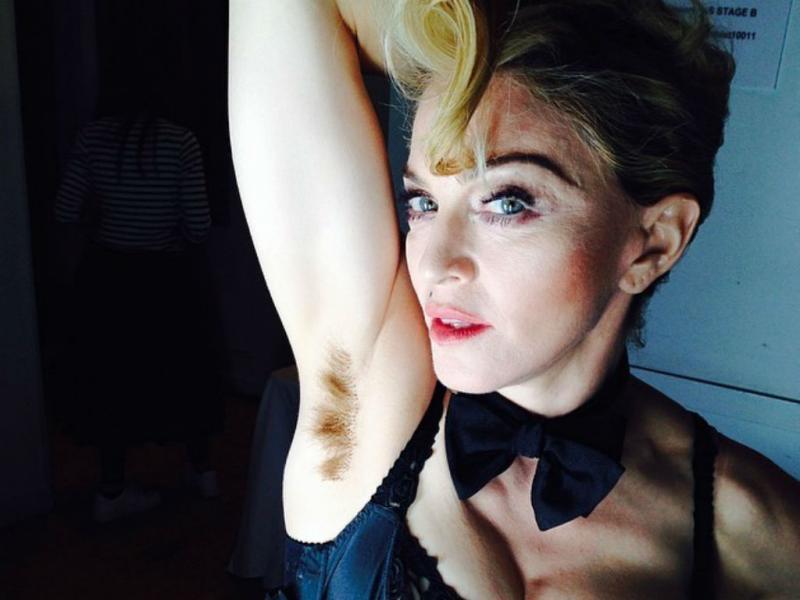 Madonna exibe axila não depilada no Instagram (Reprodução)