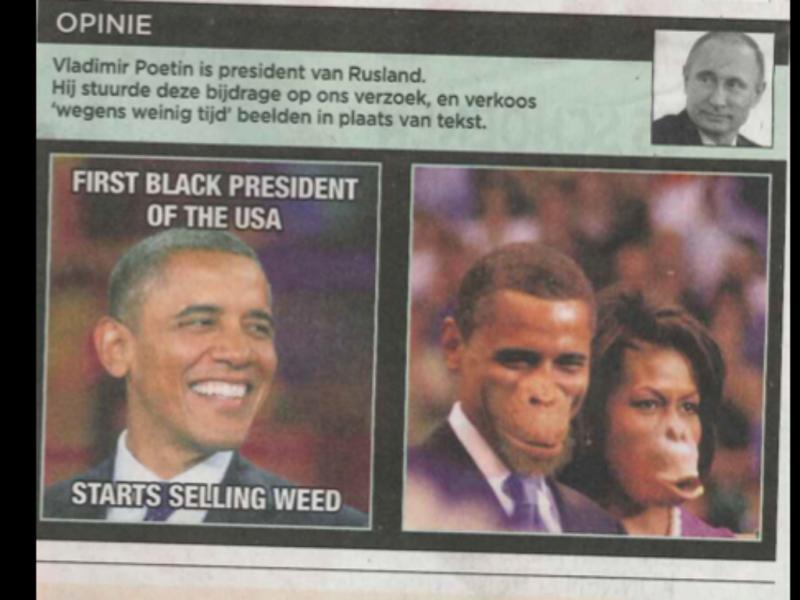 Obama representado como macaco (Reprodução/ Twitter /chika unigwe)