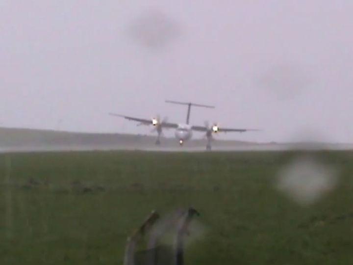 Vídeo mostra aterragem atribulada nos Açores
