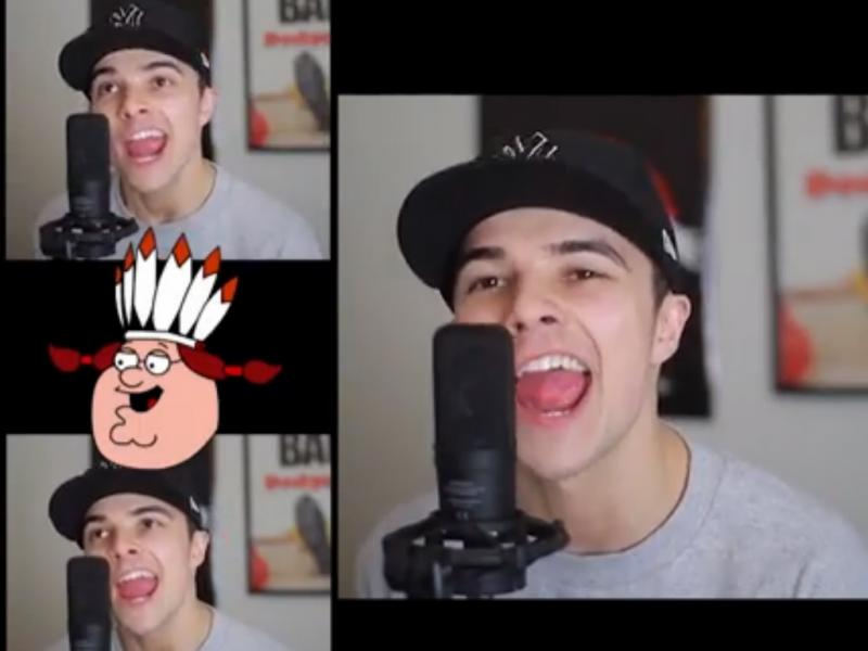YouTuber Mikey Bolts fez cover da música «Happy» de Pharrell Williams (reprodução YouTube)