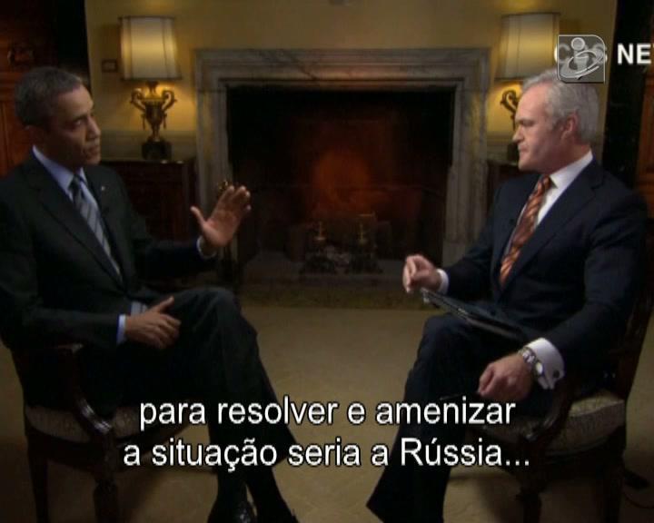 Obama quer recuo de tropas russas concentradas  junto à fronteira
