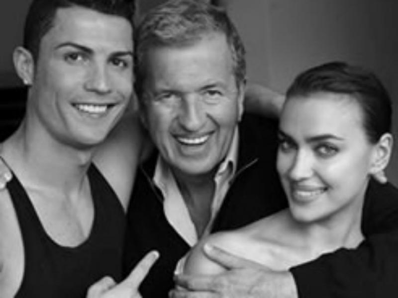 Cristiano Ronaldo e Irina posam juntos para a Vogue (Reprodução Facebook)