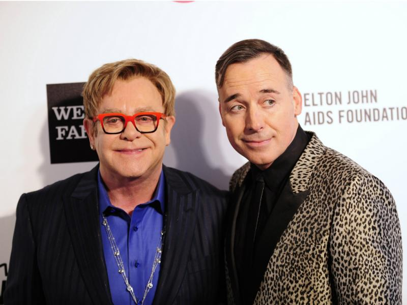 Elton john e David Furnish (Reuters/Gus Ruelas)