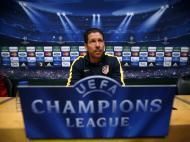 Treino do Atlético Madrid em Nou Camp (Reuters)