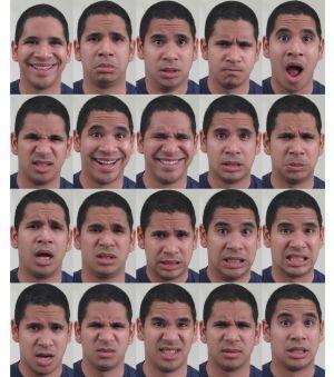 Cientistas descobrem 21 expressões (cortesia Aleix Martinez)