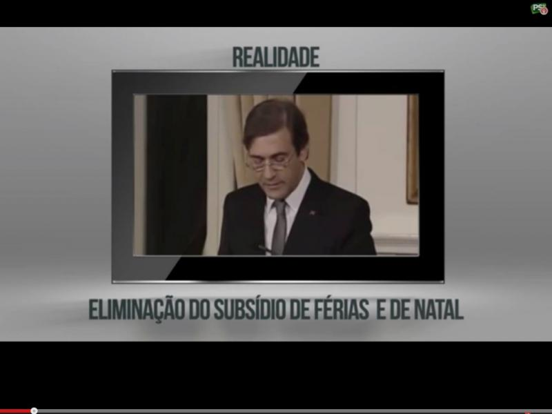 Vídeo das «mentiras» do Governo, segundo o PS