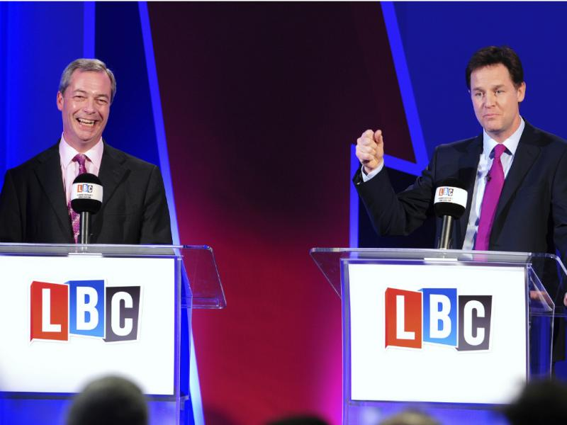 Nigel Farage e Nick Clegg [Reuters]