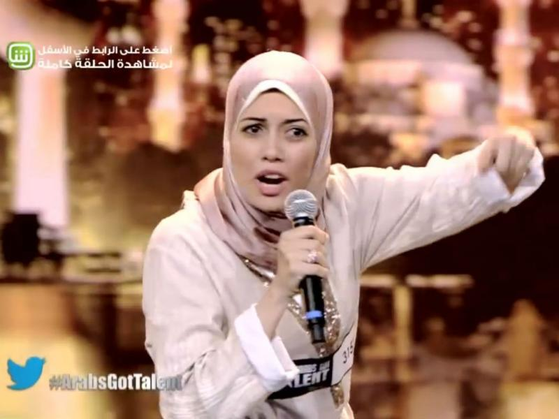 Mayam Mahmud no programa «Arabs Got Talent» (Reprodução YouTube)