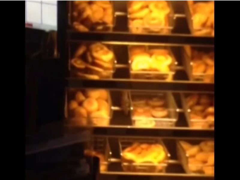 Cliente descobriu um rato numa loja de donuts (reprodução de YouTube)