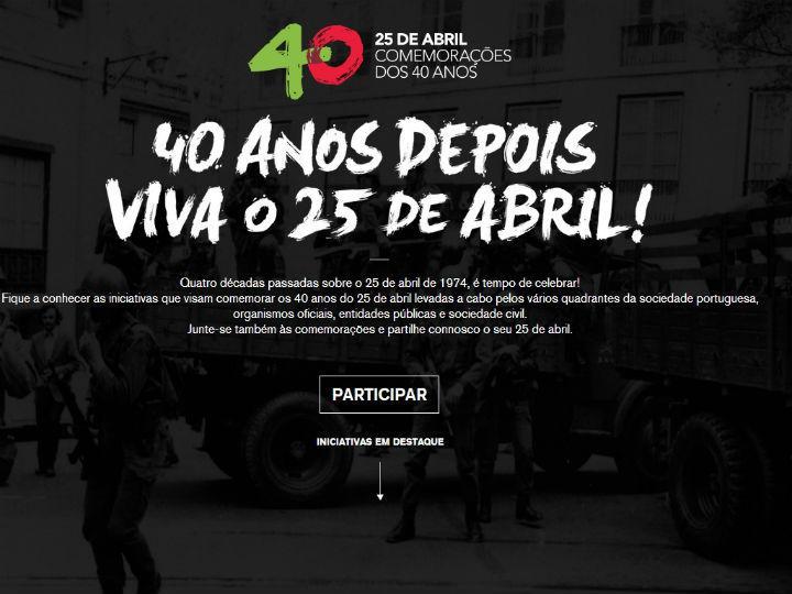 25 Abril já tem site oficial das comemorações