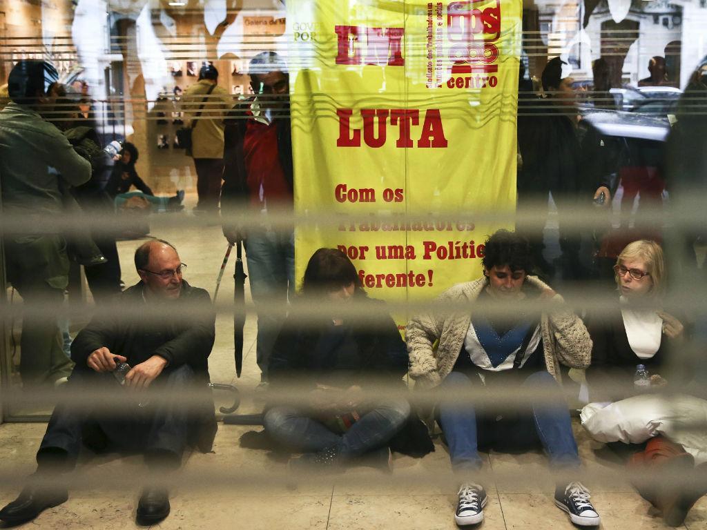 Sindicalistas ocupam Ministério da Educação (André Pereira/Lusa)
