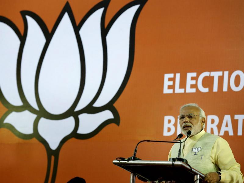 As maiores eleições do mundo são na Índia. Narenda Modi, do partido nacionalista Bharatiya Janata (Lusa)