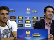 Unai Emery e Daniel Carriço (EPA)