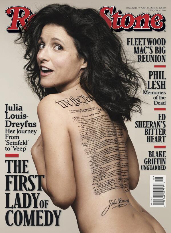 Julia Louis-Dreyfus na capa da Rolling Stone