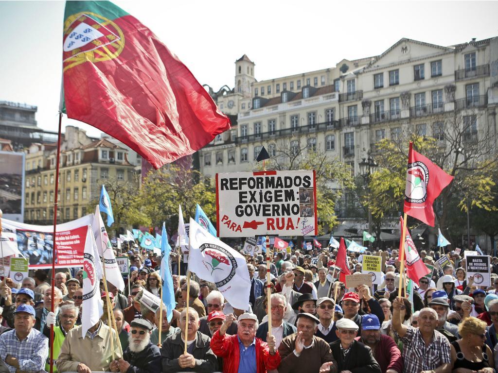 Protesto de reformados em Lisboa [MÁRIO CRUZ/LUSA]