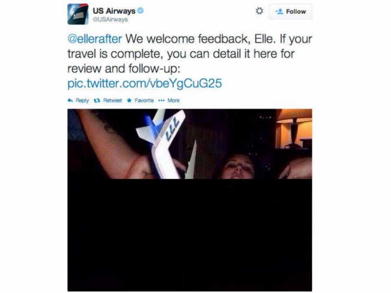US Airways publica fotografia pornográfica (Reprodução /Twitter / BuzzFeed)