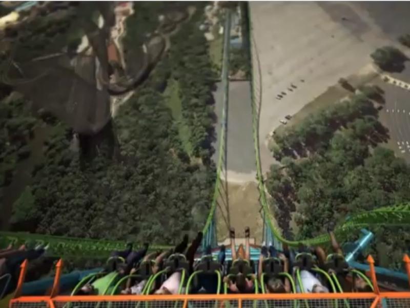 «Zumanjaro: Drop of Doom» poderá alcançar os 145 quilómetros por hora (Foto reprodução de YouTube)