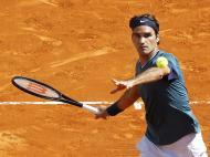 Roger Federer no Masters de Monte Carlo (EPA)