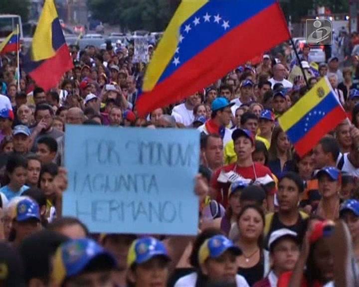 Confrontos entre polícias e manifestantes na Venezuela