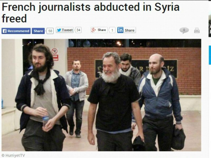 Jornalistas franceses raptados