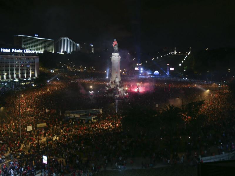 Festa do Benfica no Marquês de Pombal (Lusa)