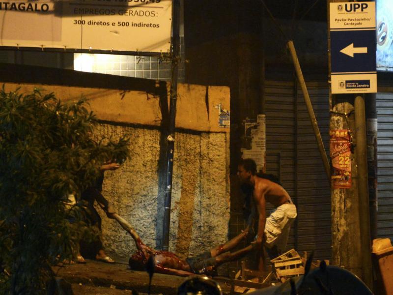 Protestos violentos no Rio de Janeiro (Reuters)