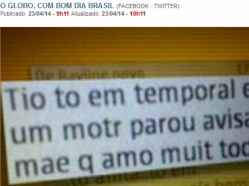 Descoberto avião desaparecido no Brasil (Reprodução / O Globo)