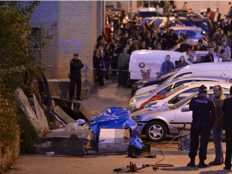 Queda de muro junto à Universidade do Minho mata três pessoas [Hugo Delgado/LUSA]