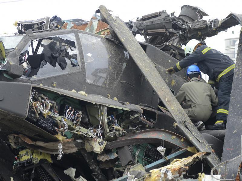 Helicóptero  despenhou-se em Taiwan (Reuters)