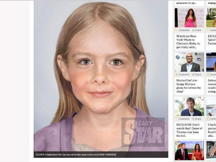 Jornal «Daily Star» revela imagem de como Maddie poderá «ser» agora