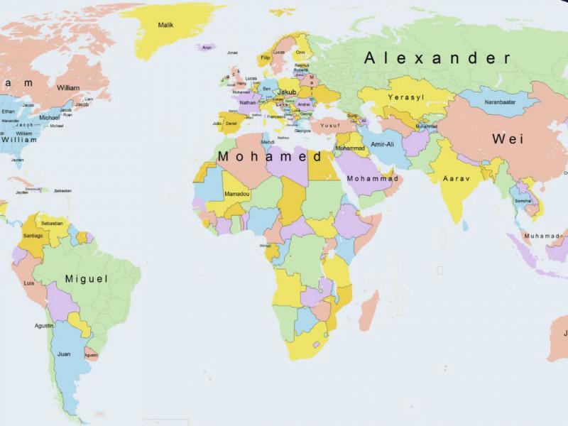 mapa de portugal todo Mapa revela os nomes mais populares em todo o Mundo | TVI24 mapa de portugal todo
