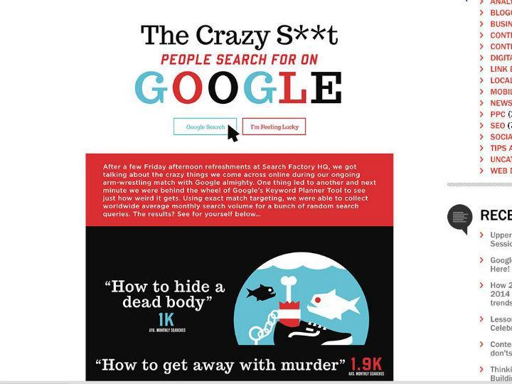 As coisas mais estranhas pesquisadas no Google