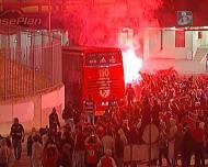 A chegada do Benfica ao Estádio da Luz