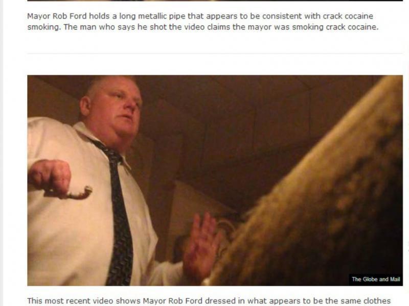 Rob Ford novamente apanhado a fumar crack (reprodução  Global News)