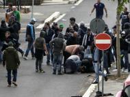 Confrontos em Roma antes do final da Taça de Itália