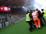 Bombeiro ferido antes do Fiorentina-Nápoles