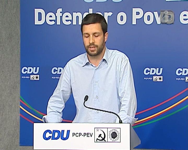 PCP acusa governo de hipocrisia e cinismo