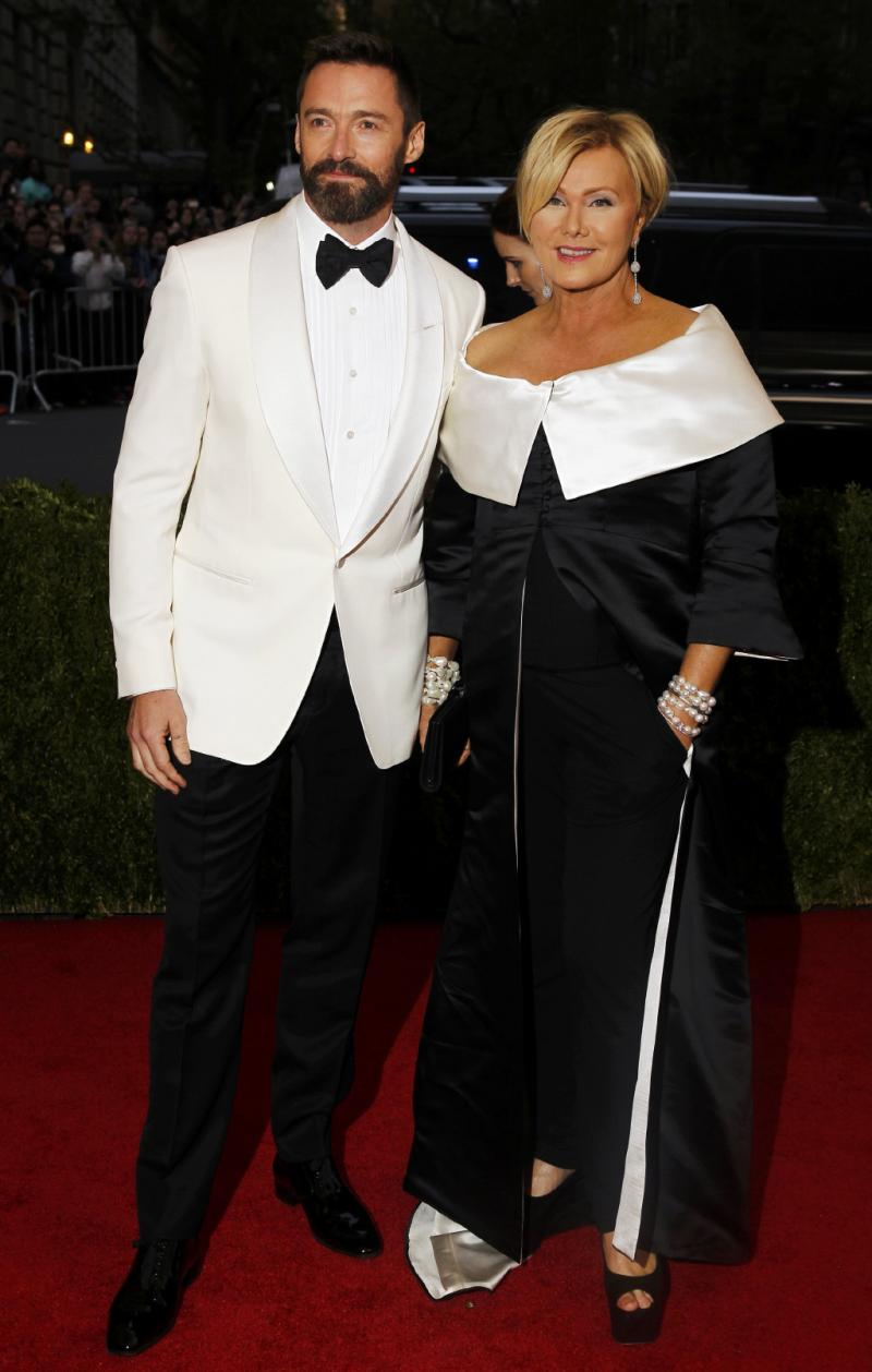 Hugh Jackman e Deborra-Lee Furness - Gala Beneficente do Costume Institute do MET de Nova Iorque 2014 Foto: Reuters