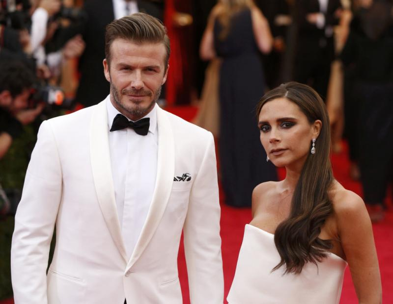 David Beckham e Victoria Beckham - Gala Beneficente do Costume Institute do MET de Nova Iorque 2014 Foto: Reuters