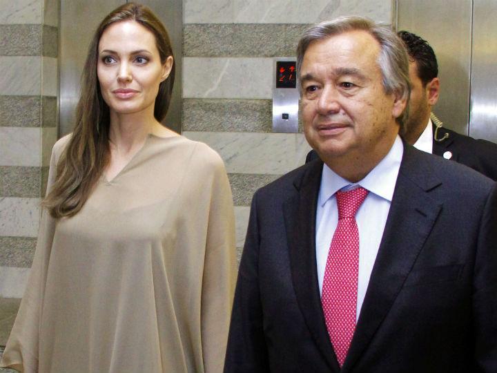 António Guterres e Angelina Jolie