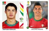 Oito anos depois [fotos: Panini]: Cristiano Ronaldo
