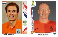 Oito anos depois [fotos: Panini]: Robben